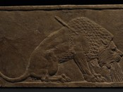 Dying Lion wall-panel relief
