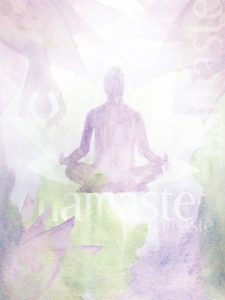 Illustration of a a person meditating