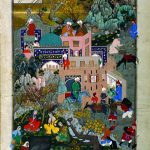 The story of Haftvad and the worm, folio from Shahnameh of Shah Tahmasp