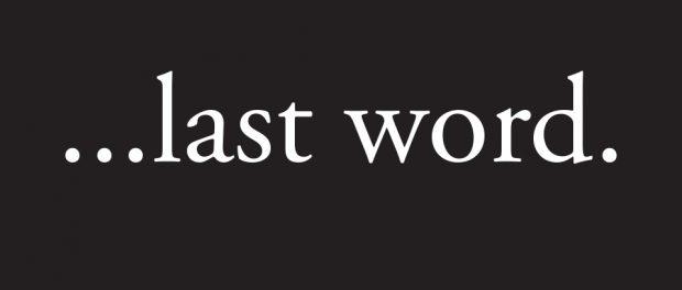 banner: ...last word