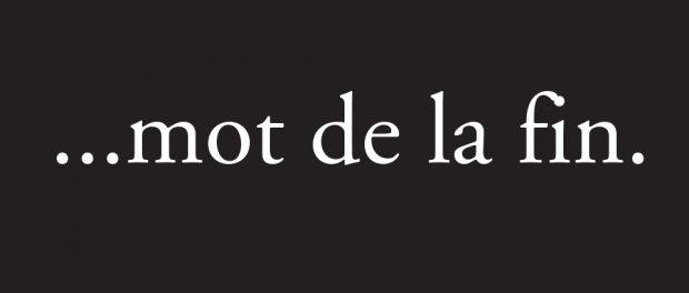 banner: mot de la fin
