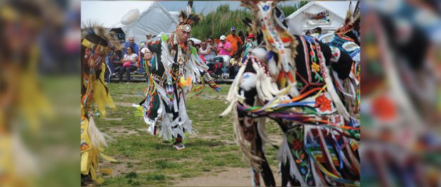 Photo of Tribal Vision Dance demonstrating its ceremony dance.