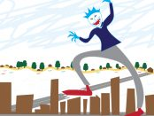 Illustration of a large monster terrorizing the community