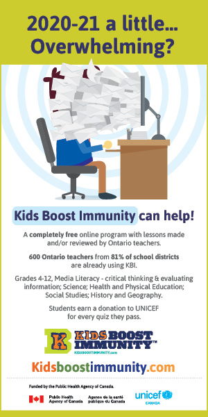 2020-21 a little overwhelming? Kids Boos Immunity can help! A completely free online program with lessons made and/or reviewed by Ontario teachers.
