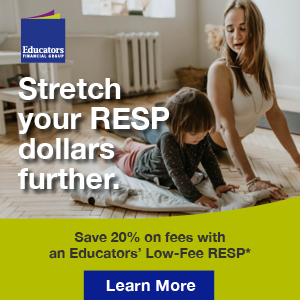 Stretch your RESP dollars further - Save 20% on fees with an Educators' low-fee RESP