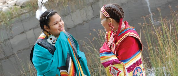 Photo of two teen First Nations