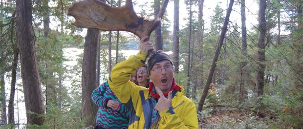 Photo of teacher in the woods