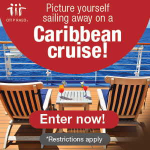 OTIP. Picture yourself sailing away on a Caribbean cruise! Enter NOw!