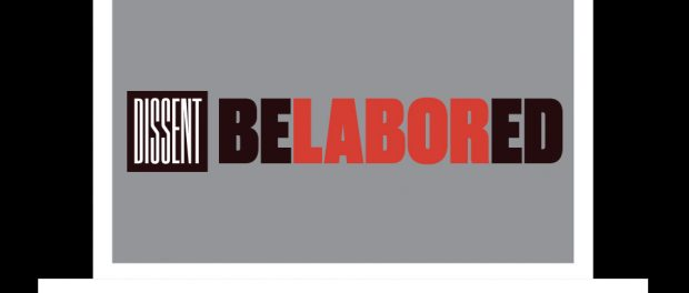 Graphic of a laptop opened with the belabored logo displayed on the screen.