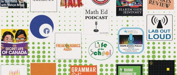 Image of a collage of a variety of podcast icons