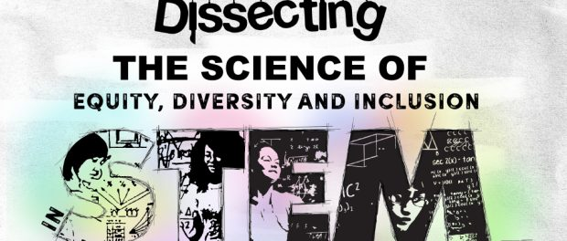 Illustration of the title Dissecting the science of equity, diversity and inclusion in STEM