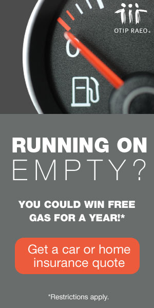 Running On Empty? You could win FREE GAS FOR A YEAR!