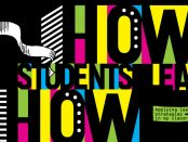 "Illustration of colourful abstract typography for part of the article title ""How students learn """